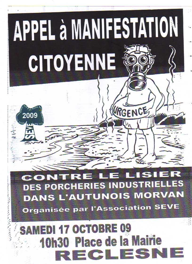 Appel à la manifestation le 17 Octobre a Reclesne!